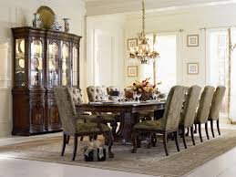 grandeur 7 piece double pedestal dining table set in cherry ash burl finish by furniture
