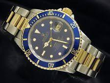 rolex submariner watches blue green black mens rolex submariner 18k yellow gold stainless steel watch blue sub date 16803