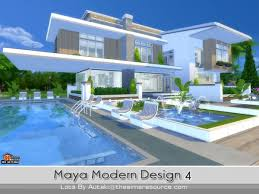 Small Picture The Sims Resource Maya Modern Design 4 by Autaki Sims 4