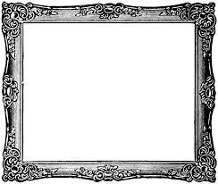 Black Ornate Frame Png LARGE BLACK ORNATE Black Ornate Frame Png