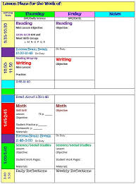 Sample Weekly Lesson Plan New Weekly Lesson Plan Template Block Schedule School Lesson Plan