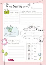 Printable Baby Schedule Chart Printable Daily Chart For Nannies Parent24