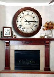 large clock over fireplace wall clock above fireplace decorative mantel clocks