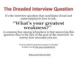 How To Address The Weakness Question In A Job Interview