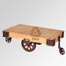 industrial trolley coffee table 125x71x42