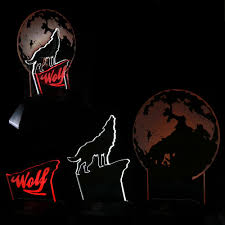 Kopen Howling Wolf Volle Maan Led Nachtlampje 3d Lijn Lamp Wildlife