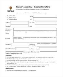 Sample Accounting Expense Forms Example Format Claim Form Mileage ...