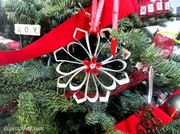 recycled christmas card ornaments diy