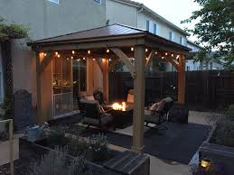 patio cover kits costco best of cedar wood 12 x 12 gazebo with aluminum roof by