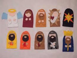 diy felt nativity finger puppets with pattern