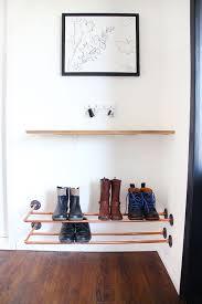 DIY shoes storage idea from copper pipes / Grillo Designs  www.grillo-designs.