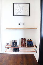 diy shoes storage idea from copper pipes grillo designs grillo designs