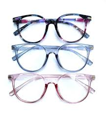 Specs Frame Design Cute Design Big Frame Eyeglasses Specs For Women With Pouch And Wiper