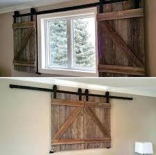 sliding barn doors for windows barn door window shutters two reclaimed wood barn door shutters for