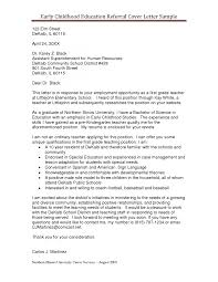 Cover Letter Childcare Cover Letter Example Child Care Resume