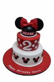 Mickey And Minnie Mouse Cakes Kids Birthday Cakes Dubai