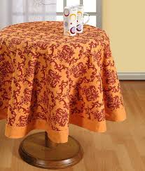 swayam cotton round table sheet 4 seater 60 inches diameter suitable for 4 chair