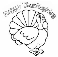 Happy Thanksgiving Turkey Coloring Page Coloring Page Book For Kids