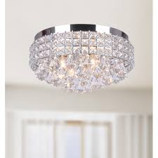 crystal flush mount chandelier. Antonia Ornate Crystal Flush Mount Chandelier In Chrome - Free Shipping Today Overstock 16129500 N