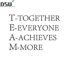 Team Together Everyone Achieves More Team Motivational Quote Office