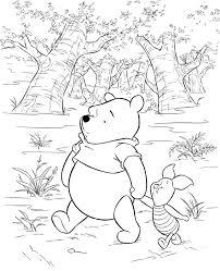 Disegni Da Colorare Winnie The Pooh E Pimpi Passeggiano Nel Bosco