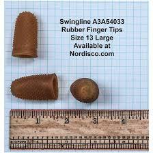 Rubber Finger Tip Size Chart Swingline 54033 Rubber Finger Tips Size 13 Large Box Of 12