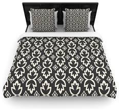 amanda lane black cream bohemia dark pattern cotton duvet cover twin 68