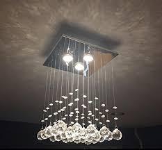 home room lighting ceiling saint mossi crystal rain drop chandelier modern contemporary