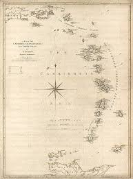 Chart Of Caribbean Islands Map Of The Caribbean Sea From The 1700s 114 Map West Indies