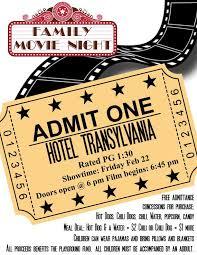 Free Movie Night Flyer Templates Pta Movie Night Flyer Template Family Movie Night Family