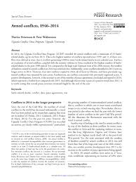 Pdf Armed Conflicts 1946 2012