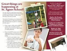 Campaign Brochure Csmsamples St Agnes School Focused Campaign Brochure