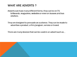 what is and advert blue thorn btec media level av essay ppt  2 what are adverts adverts can have many different forms