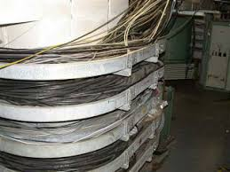 exterior cable tray. overloaded cable tray. exterior tray