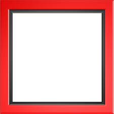 Red Frame Border Black PNG Image Picpng