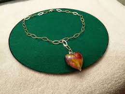 sterling silver necklace and bracelet with murano glass pendant