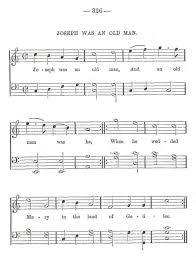 this old man piano sheet music joseph was an old man sandys
