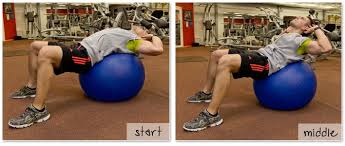 exercise ball crunches demonstration