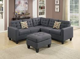 gray fabric sectional sofa. F6935 Blue Gray 4 Pcs Sectional Sofa Set By Poundex Fabric L
