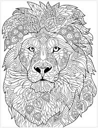 The lion and the mouse. Lion Complex Patterns Lion Head With Very Complex Patterns From The Gallery Lions Just C Lion Coloring Pages Animal Coloring Books Mandala Coloring Pages