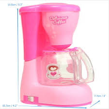 Pink Small Kitchen Appliances Plastic Simulation Home Kitchen Appliances Mini Coffee Maker Toys