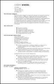 Academic Resume Template For College Extraordinary Academic Resume