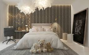 modern bedroom for girls. Stylish Girl\u0027s Room With A Patterned Headboard Wall Modern Bedroom For Girls A