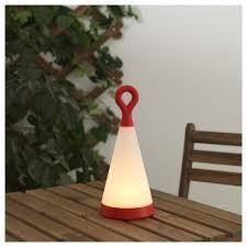 Tafellamp Solvinden Led Op Zonnecellen Buiten Triangel Rood Wit