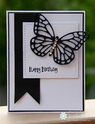Black Birthday Cards Handmade Birthday Card From Ladybug Designs