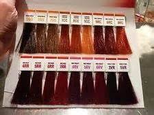 Socolor Red Color Chart Pin On Hair Color Formulas