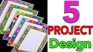 Cartolina Paper Design 5 Border Designs Border Designs On Paper Project File Decoration Ideas My Creative Hub