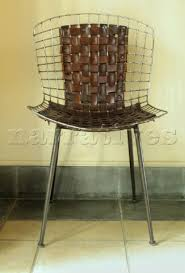 woven metal furniture. Leather And Metal Woven Chair Furniture E