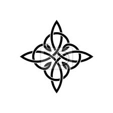 Fototapeta Keltské Uzly Elegantní Cross Weaven Tetování šablony