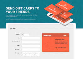 your gift card setup